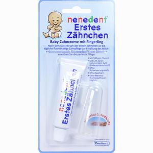 Abbildung von Nenedent Erstes Zähnchen Baby Zahncreme+fingerling  15 ml