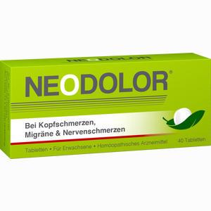 Abbildung von Neodolor Tabletten 40 Stück