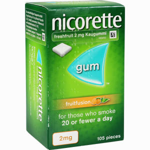 Abbildung von Nicorette 2 Mg Freshfruit Kaugummi  Kohlpharma 105 Stück