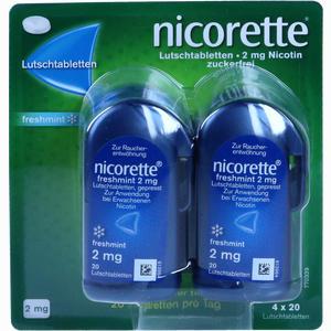 Abbildung von Nicorette Freshmint 2mg Lutschtabletten Gepresst  80 Stück