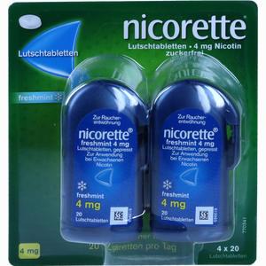 Abbildung von Nicorette Freshmint 4mg Lutschtablette Gepresst Lutschtabletten 80 Stück