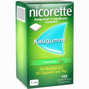 Abbildung von Nicorette Freshmint Kaugummi 2mg  105 Stück