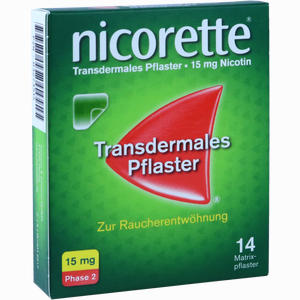Abbildung von Nicorette Tx Pflaster 15mg Pflaster Transdermal 14 Stück