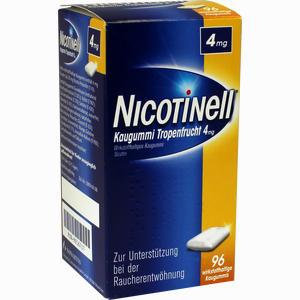 Abbildung von Nicotinell Kaugummi Tropenfrucht 4mg  96 Stück