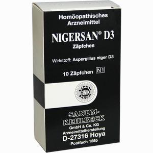 Abbildung von Nigersan D3 Zäpfchen 10 Stück