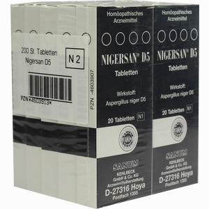 Abbildung von Nigersan D5 Tabletten 10 x 20 Stück