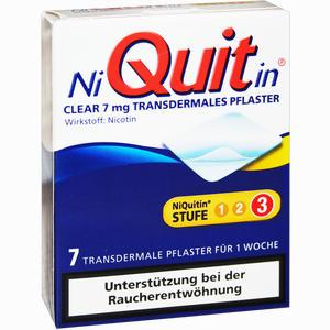 Abbildung von Niquitin Clear 7mg Pflaster Transdermal 7 Stück