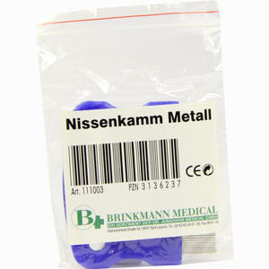Abbildung von Nissenkamm Metall Brinkmann medical - dr. junghans 1 Stück