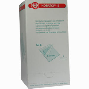 Abbildung von Nobatop S 5x5cm Sterile Schlitzkompressen Aus Vliesstoff  50 Stück