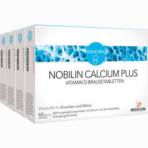 Abbildung von Nobilin Calcium Plus Vitamin D Brausetabletten  4 x 60 Stück