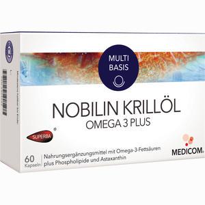 Abbildung von Nobilin Krillöl Omega 3 Plus Kapseln 60 Stück