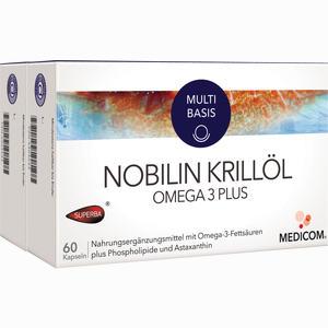 Abbildung von Nobilin Krillöl Omega 3 Plus Kapseln 2 x 60 Stück