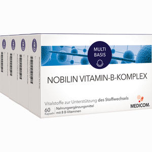 Abbildung von Nobilin Vitamin B Komplex Kapseln 4 x 60 Stück