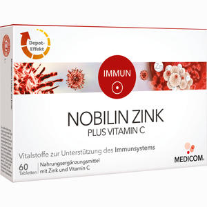 Abbildung von Nobilin Zink Plus Vitamin C Tabletten 60 Stück