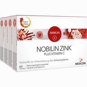 Abbildung von Nobilin Zink Plus Vitamin C Tabletten 4 x 60 Stück