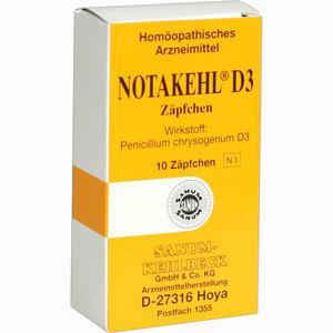 Abbildung von Notakehl D3 Zäpfchen 10 Stück