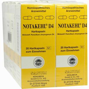 Abbildung von Notakehl D4 Kapseln 10 x 20 Stück