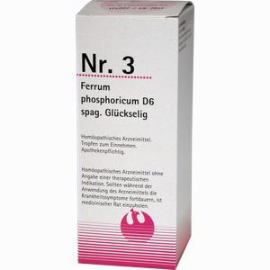 Abbildung von Nr. 3 Ferrum Phosphoricum D6 Spag. Glückselig Tropfen 100 ml