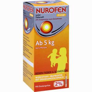 Abbildung von Nurofen Junior Fiebersaft Orange 2% Suspension 150 ml