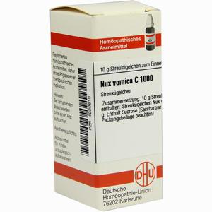 Abbildung von Nux Vomica C1000 Globuli 10 g