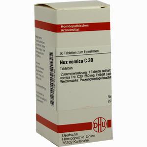 Abbildung von Nux Vomica C30 Tabletten 80 Stück