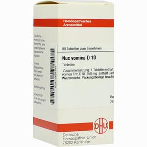 Abbildung von Nux Vomica D10 Tabletten 80 Stück