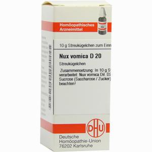 Abbildung von Nux Vomica D20 Globuli 10 g