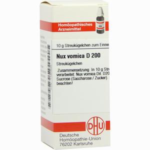 Abbildung von Nux Vomica D200 Globuli Dhu-arzneimittel 10 g