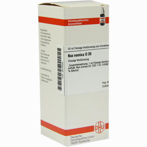 Abbildung von Nux Vomica D30 Dilution 50 ml