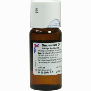 Abbildung von Nux Vomica D4 Dilution Weleda 50 ml