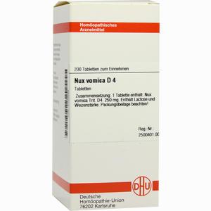 Abbildung von Nux Vomica D4 Tabletten 200 Stück