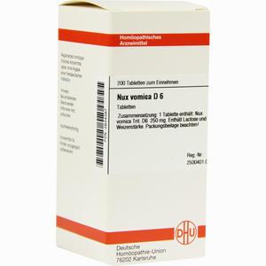 Abbildung von Nux Vomica D6 Tabletten 200 Stück