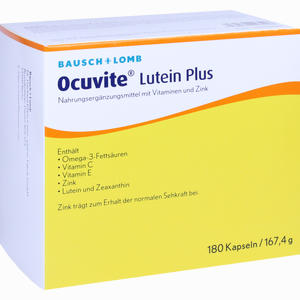 Abbildung von Ocuvite Lutein Plus Kapseln 180 Stück