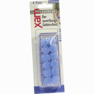 Abbildung von Ohrschutz Xam Medizinisches Silikon Blau 12 Stück