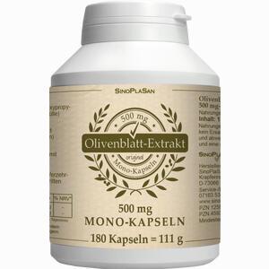Abbildung von Olivenblattextrakt 500mg Mono- Kapseln  180 Stück