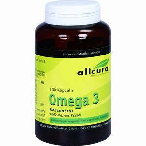 Abbildung von Omega 3 Konzentrat 1000mg Aus Fischöl Kapseln 100 Stück