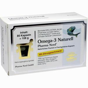 Abbildung von Omega- 3 Naturell Pharma Nord Kapseln 80 Stück