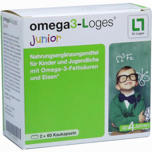 Abbildung von Omega3- Loges Junior Kaudragees 120 Stück