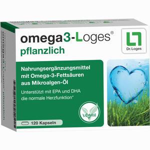 Abbildung von Omega3- Loges Pflanzlich Kapseln 120 Stück