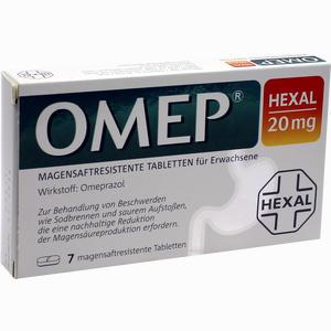 Abbildung von Omep Hexal 20mg Magensaftresistente Tabletten  7 Stück
