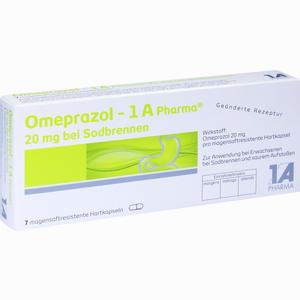 Abbildung von Omeprazol - 1 A Pharma 20mg bei Sodbrennen Kapseln 7 Stück
