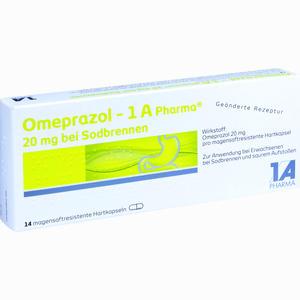 Abbildung von Omeprazol - 1 A Pharma 20mg bei Sodbrennen Kapseln 14 Stück