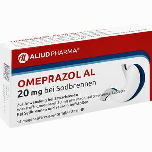 Abbildung von Omeprazol Al 20mg bei Sodbrennen Tabletten 14 Stück