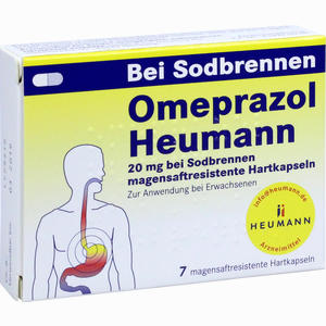 Abbildung von Omeprazol Heumann 20mg B Sodbr. Magensaftr.hartk. Kapseln 7 Stück