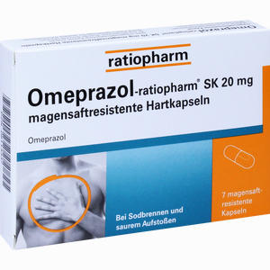 Abbildung von Omeprazol- Ratiopharm Sk 20mg Magensaftresistente Hartkapseln  7 Stück