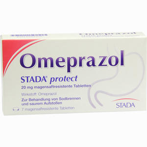 Abbildung von Omeprazol Stada Protect 20mg Magensaftres. Tabletten  7 Stück