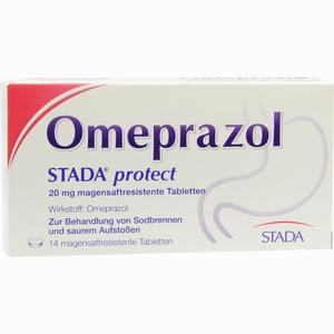 Abbildung von Omeprazol Stada Protect 20mg Magensaftres. Tabletten  14 Stück