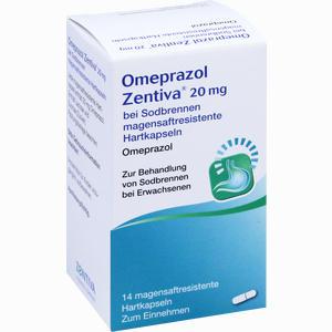 Abbildung von Omeprazol Zentiva 20mg bei Sodbrennen Kmp 14 Stück