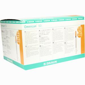 Abbildung von Omnican 50 0.5ml Insulin U- 100 0.30x12mm Einzelverpackt Spritzen  100 x 1 Stück