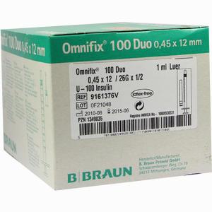 Abbildung von Omnifix Duo 100 Insulin Einmalspritzen  100 x 1 ml